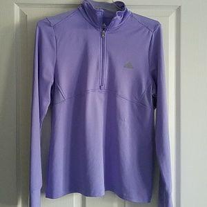 Adidas Lavender Long Sleeve Tech Tee - L